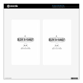 Believe In Yourself Skin For Kindle Fire