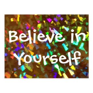 Believe in Yourself Sparkly Postcard