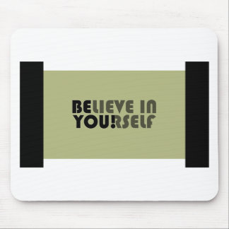 believe in yourself star mouse pad