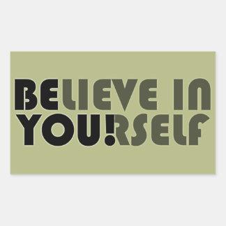 believe in yourself star rectangular sticker