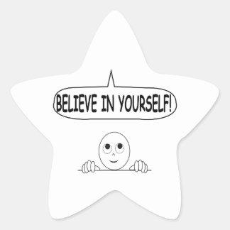 Believe In Yourself Star Sticker