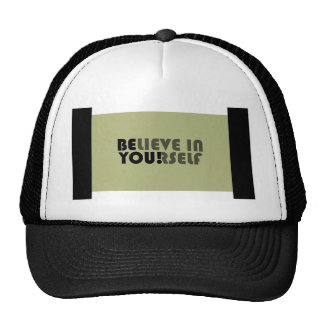 believe in yourself star trucker hat