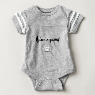 Believe In Yourself Text And Image Baby Bodysuit