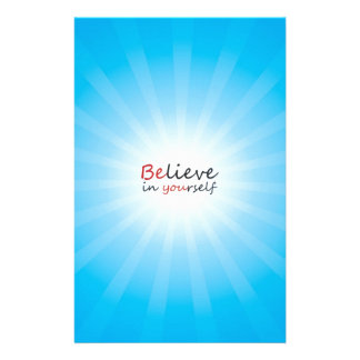 Believe in yourslef stationery paper
