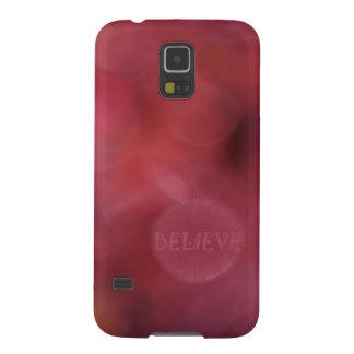 """Believe"" Inspirational Art w/Colorful Bokeh(Orig) Galaxy S5 Case"