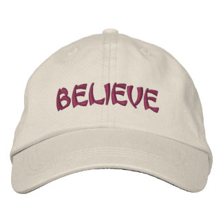 Believe Inspirational Embroidered Baseball Cap
