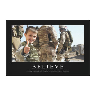 Believe: Inspirational Quote Canvas Print