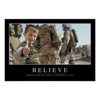 Believe: Inspirational Quote Poster