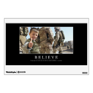 Believe: Inspirational Quote Wall Sticker
