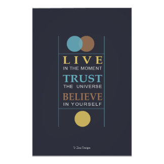 Believe Inspirational Spiritual Quote Poster