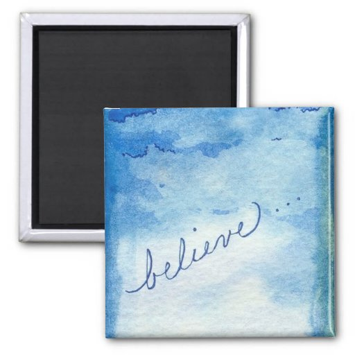 Believe Inspirational Watercolor Painting Fridge Magnets