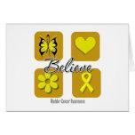Believe Inspirations Bladder Cancer Greeting Cards
