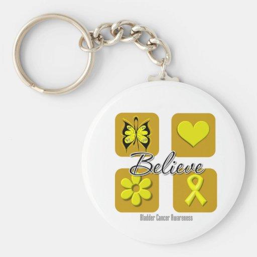 Believe Inspirations Bladder Cancer Keychains
