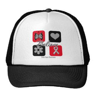 Believe Inspirations Brain Tumor Awareness Trucker Hat