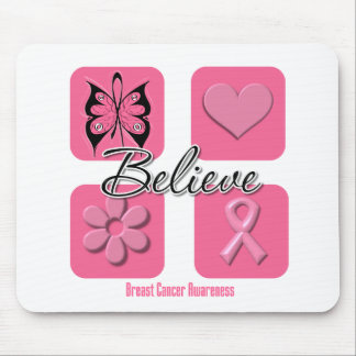 Believe Inspirations Breast Cancer Mouse Pad