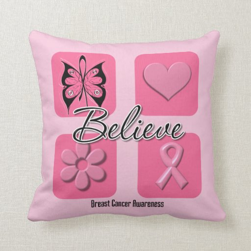 Believe Inspirations Breast Cancer Pillows