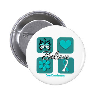 Believe Inspirations Cervical Cancer Pinback Buttons