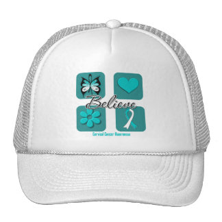 Believe Inspirations Cervical Cancer Trucker Hat