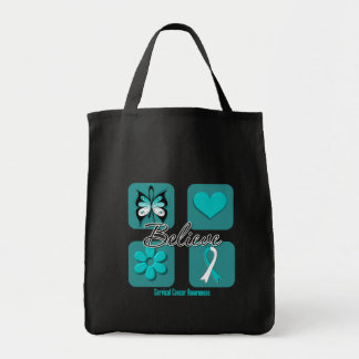 Believe Inspirations Cervical Cancer Tote Bag
