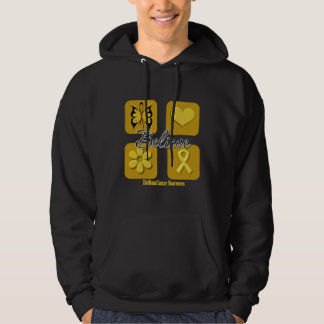 Believe Inspirations Childhood Cancer Hoodie
