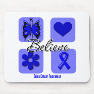 Believe Inspirations Colon Cancer Mouse Pad