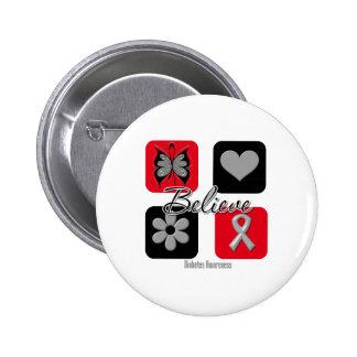 Believe Inspirations Diabetes Awareness Pinback Buttons