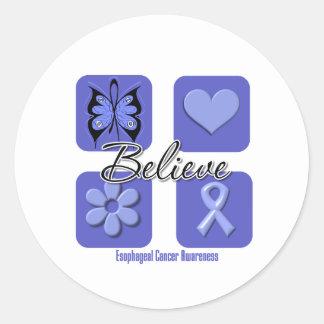 Believe Inspirations Esophageal Cancer Sticker