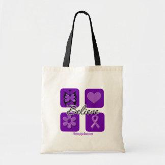 Believe Inspirations Fibromyalgia Awareness Canvas Bag