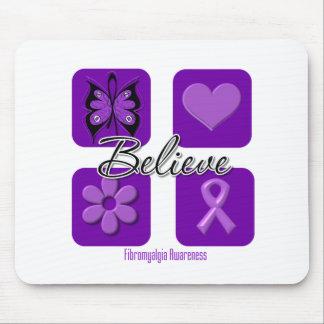 Believe Inspirations Fibromyalgia Awareness Mousepads