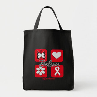 Believe Inspirations Lung Cancer Tote Bag