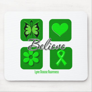 Believe Inspirations Lyme Disease Mouse Pad