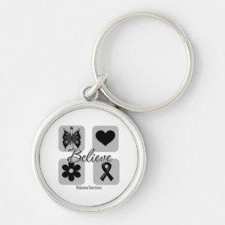 Believe Inspirations Melanoma Silver-Colored Round Keychain