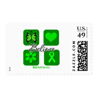 Believe Inspirations Mental Health Awareness Postage Stamps