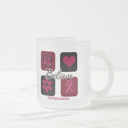 Believe Inspirations Multiple Myeloma 10 Oz Frosted Glass Coffee Mug