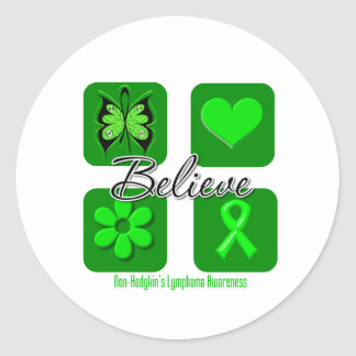 Believe Inspirations Non-Hodgkin's Lymphoma Classic Round Sticker