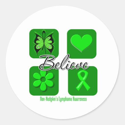 Believe Inspirations Non-Hodgkin's Lymphoma Round Sticker