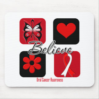 Believe Inspirations Oral Cancer Mouse Pad