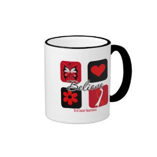 Believe Inspirations Oral Cancer Ringer Coffee Mug