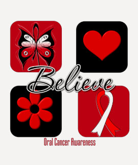 Believe Inspirations Oral Cancer T-shirts