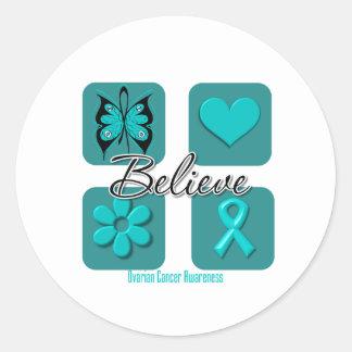Believe Inspirations Ovarian Cancer Sticker