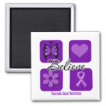 Believe Inspirations Pancreatic Cancer Refrigerator Magnets