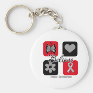 Believe Inspirations Parkinson's Disease Awareness Basic Round Button Keychain