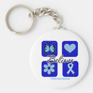 Believe Inspirations Prostate Cancer Keychains