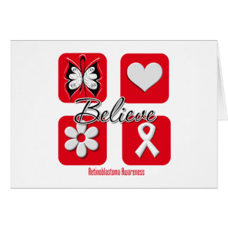 Believe Inspirations Retinoblastoma Greeting Card