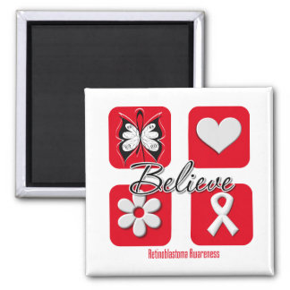 Believe Inspirations Retinoblastoma Refrigerator Magnet