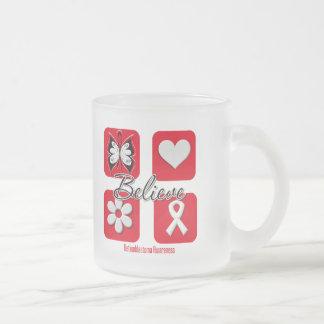 Believe Inspirations Retinoblastoma 10 Oz Frosted Glass Coffee Mug