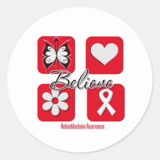 Believe Inspirations Retinoblastoma Classic Round Sticker