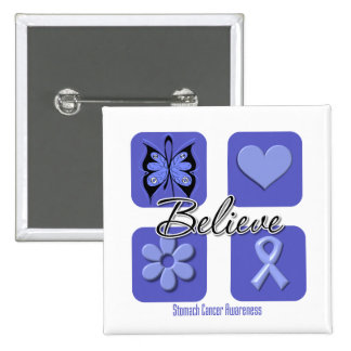 Believe Inspirations Stomach Cancer Pinback Buttons