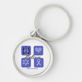 Believe Inspirations Stomach Cancer Key Chain