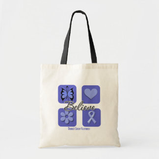 Believe Inspirations Stomach Cancer Tote Bag